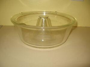 Vtg Glasbake Usa Glass Baking Dish Bundt Pan Angel Food