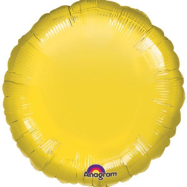 Metallic Yellow Circle Standard Foil Balloons Birthday Wedding Party Decorations