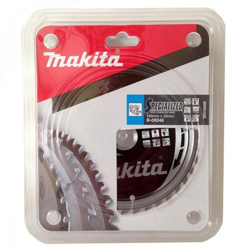 Makita spécialisés Lame de scie circulaire sans fil 165 mm x 40 dents alésage 20