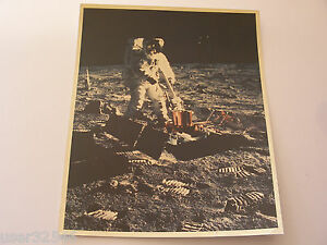 "Apollo 11 Buzz Aldrin EVA PSEP ""A Kodak Paper"" 8x10 Vintage NASA Lunar Photo"