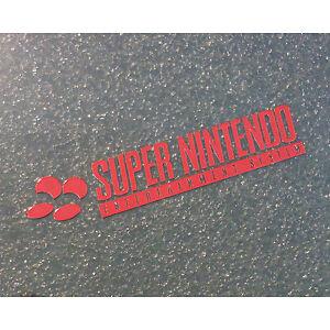 Super-Nintendo-SNES-Label-Aufkleber-Sticker-Badge-Logo-46mm-x-9mm-244b