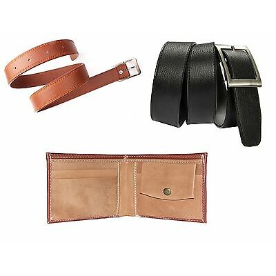 Combo of Black belt, Brown wallet and Tan Belt at Best Price with free shipping