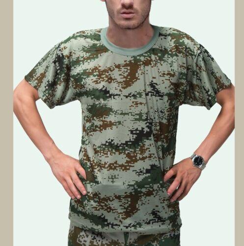 Uomo/'s Donne/'s Militare Camouflage Camo T-shirt Estate Tops Allenamento Tee