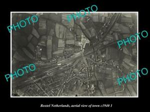 OLD-LARGE-HISTORIC-PHOTO-BOXTEL-NETHERLANDS-HOLLAND-TOWN-AERIAL-VIEW-c1940-2