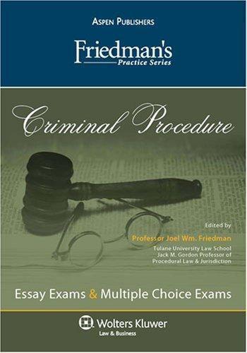 Friedman's Practice: Criminal Procedure by Joel Friedman (2007, Paperback,  Student Edition of Textbook)