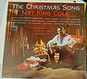 """Nat King Cole """"The Christmas Song"""" LP W1967, 1962 on Capitol Records   eBay"""