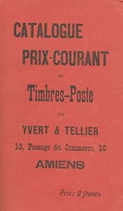 Catalogue Timbres-poste Yvert & Tellier 1897