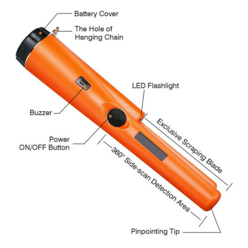 Handheld Pin Pointer Pinpoint Metal Detectors Waterproof Gold Pinpointer Tools
