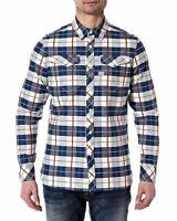G-star Men's Tacoma Check Long Sleeve Shirt In Ballpen Blue