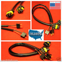 2pcs H7 Plugs Xenon Hid Plug N Play Wire Harness Power Wires Cord Headlight Hb7