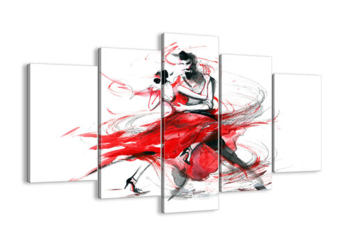 CANVAS PICTURE WALL ART 30 SHAPES UK 3052 Dance Dancers Passion