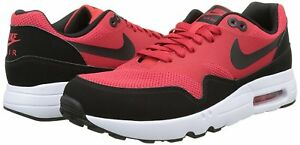 Details about Men's Nike Air Max 1 Ultra 2.0 Essential Running Shoes, 875679 600 RedBlkWhite