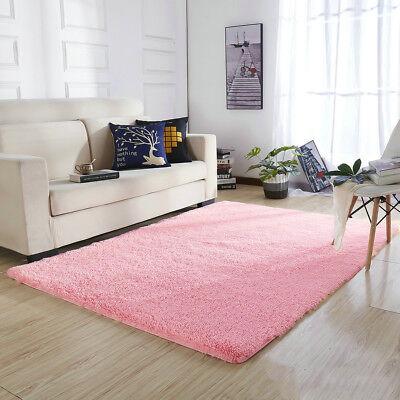 Shaggy Fluffy Rugs Bedroom Floor Mat Anti-Skid Area Rug Dining Room Home  Carpet 748320884787 | eBay