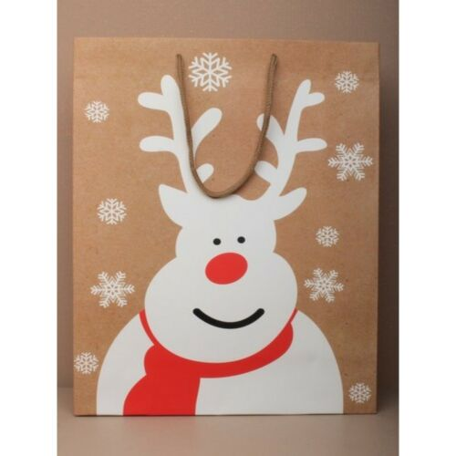 2no LARGE CHRISTMAS ASSORTED GIFT BAGS SIZE  H32XW26XD12CM trusted UK seller