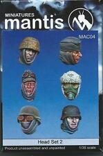 Mantis Mins MAC04 6 different German Spare Heads set 1/35th Model unpainted kit