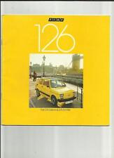 FIAT 126 SALOON AND DE VILLE SALES BROCHURE AUGUST 1978 FOR 1979 MODEL YEAR