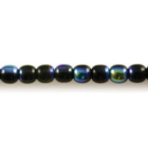 Aqua Blue AB 100 4mm Round Pressed Czech Glass Druk Beads