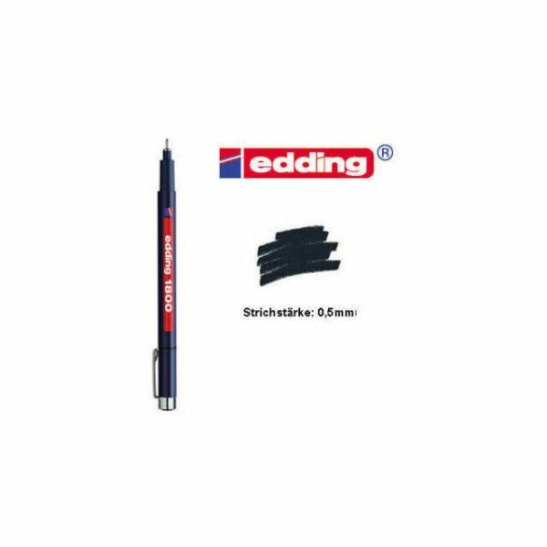 0.5mm Black EDDING 1800 PROFIPEN Pigment Liner FINELINER Drawing Pen