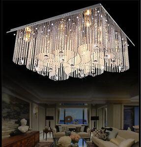 Image Is Loading Modern Crystal LED Ceiling Lights Chandeliers Restaurant  Living  Part 91