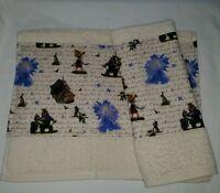 Custom - Disney Pinocchio Movie Puppet Jiminy Geppetto Cream Hand Towel Set