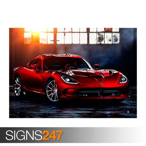 0279 Picture Poster Print Art A0 A1 A2 A3 A4 Car Poster DODGE SRT VIPER
