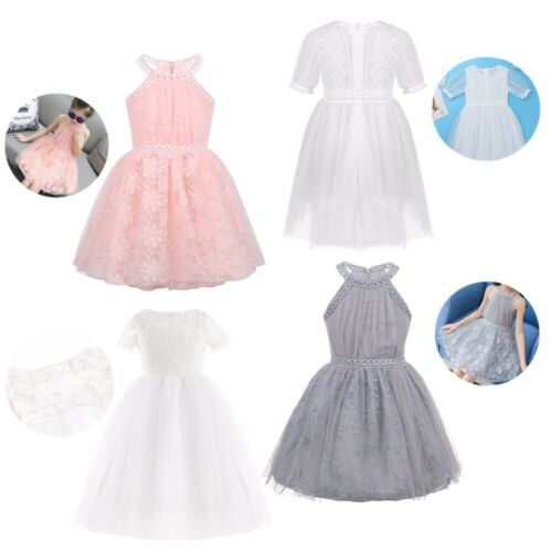 Children Wedding Party Flower Girl Lace Dress Kids Formal Prom Princess Dresses
