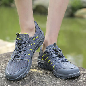 Mens Hiking Water Shoes Swim Antiskid Light Mesh Walking Beach Shoes Outdoor