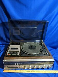 AM-FM-Stereo-8-Track-Cassette-Tape-Player-Recorder-Receiver-System-Turntable