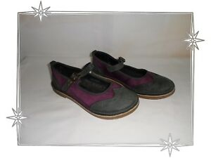 Chaussures-Ballerines-Gris-Violet-Kickers-Pointure-37