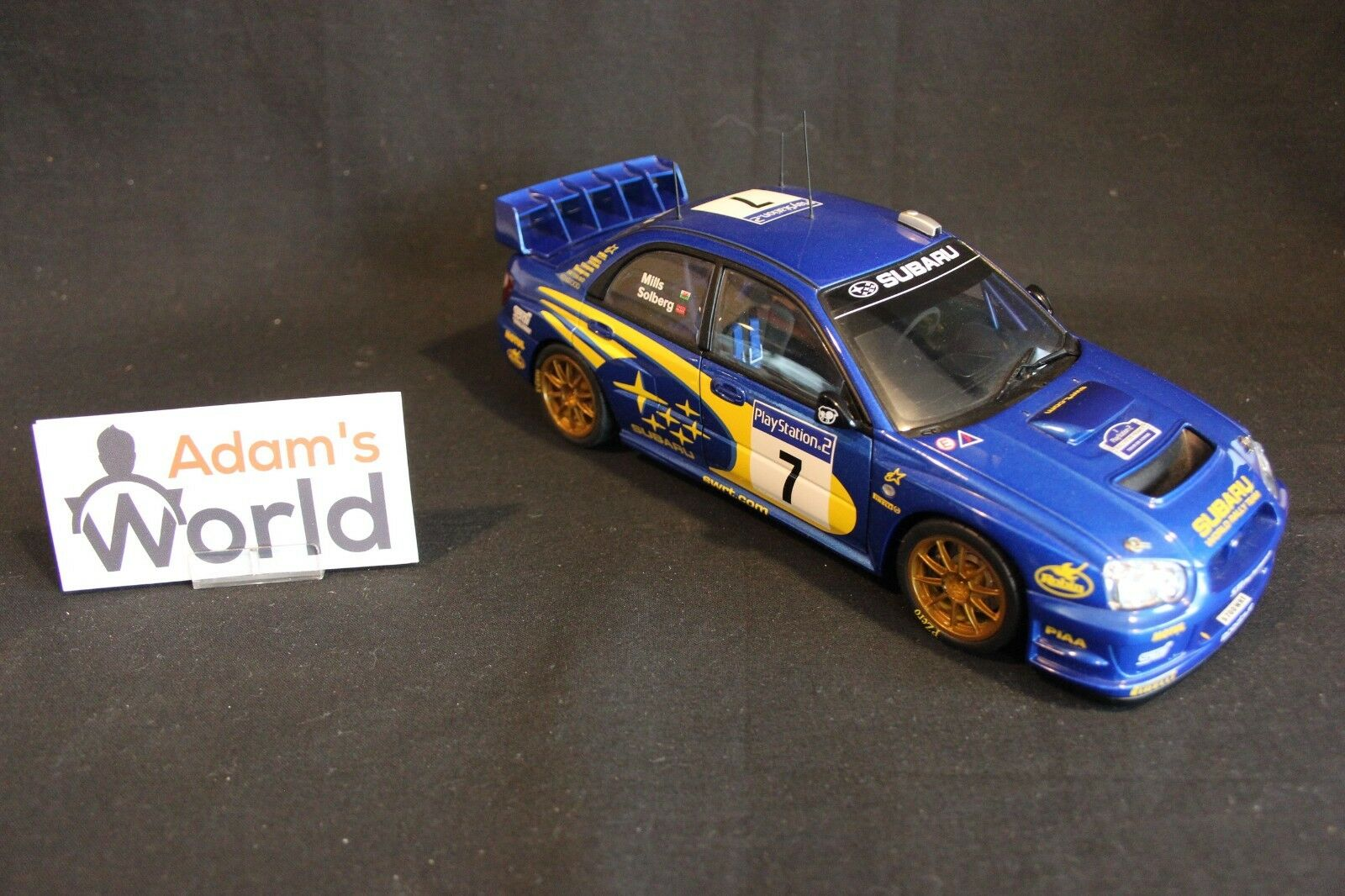 AutoArt Subaru Impreza S9 WRC  '03 1 18  7 Solberg   Mills Tour de Corse (JvdM)  profiter de vos achats