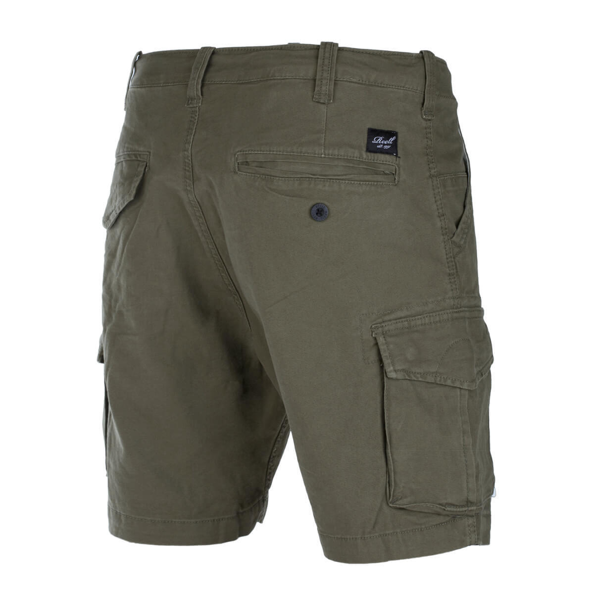 Reell City Cargo short Clay Olive short Canvas Cargo short with Stretch Olive