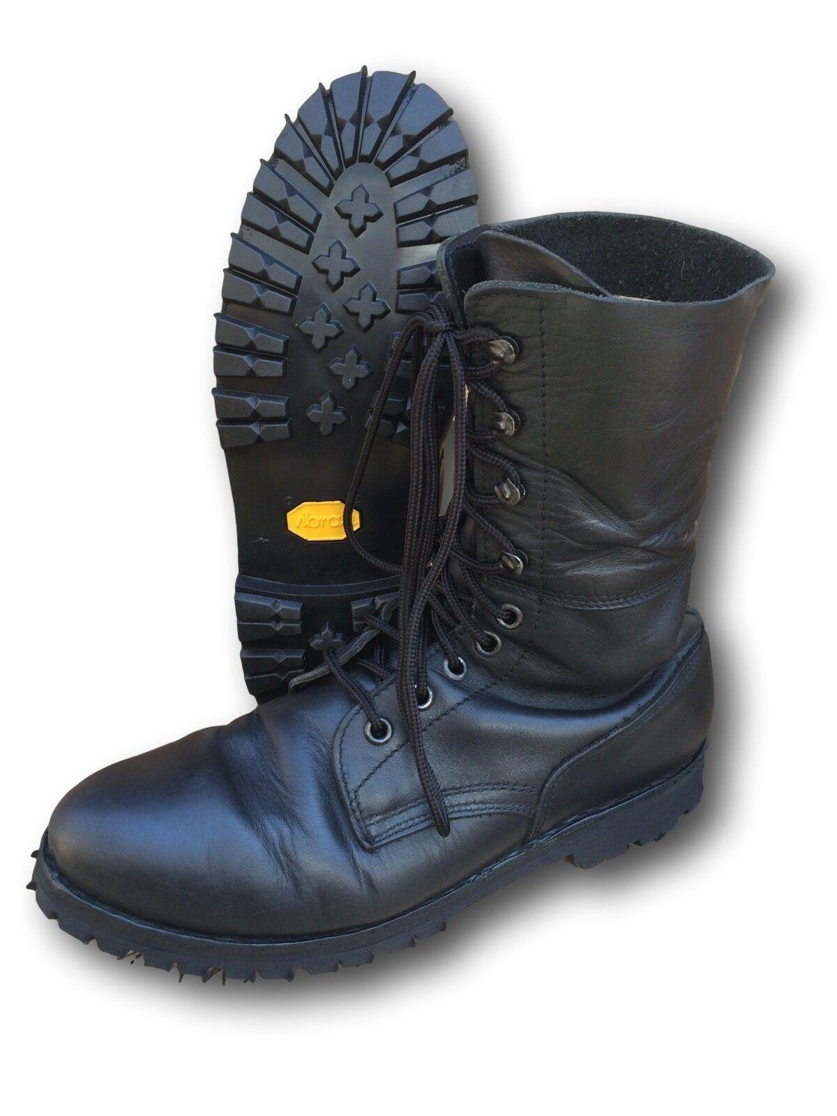 Austrian German Unlined Paratrooper Stiefel, Reconditioned,new vibram soles