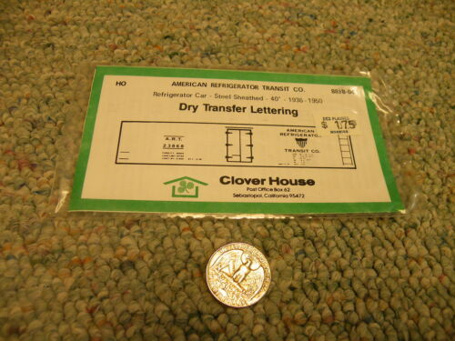 Clover House decals HO Dry trf American Refrigerator steel 40' 193650 N48