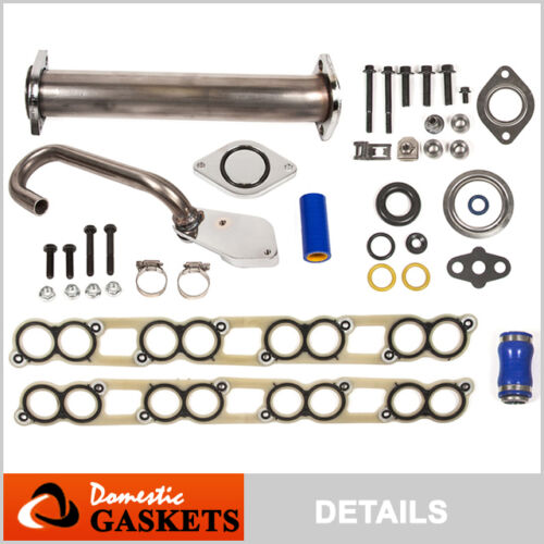 EGR Delete Kit+Intake Gaskets Ford F250 F350 F450 E350 E450 6.0L Diesel Turbo