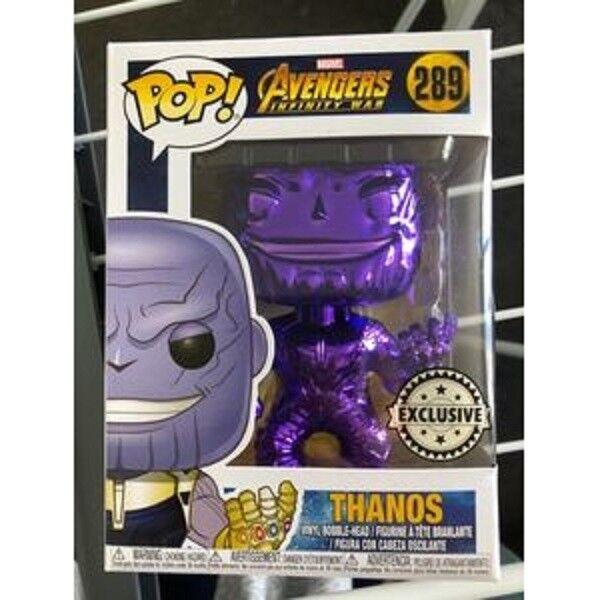Exclusive Thanos Chrome Purple Infinity War Funko Pop Vinyl New in Mint Box+P P