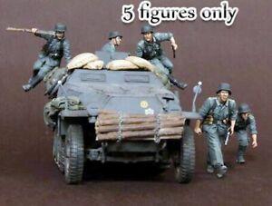 1-35-Resin-German-Grenadiers-5-Figures-in-Battle-Unbuild-Unpainted-BL580