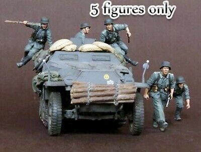█ 1//35 Resin German Grenadiers 5 Figures in Battle Unbuild Unpainted BL580