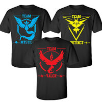 Pokemon Go Team Valor-Team Mystic-Team Instinct Pokeball T-Shirt Top Hot