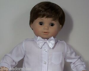 WHITE Dress BOW TIE ONLY NO SHIRT Doll Clothes For