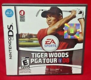 Tiger-Woods-PGA-Tour-Golf-08-Nintendo-DS-Lite-3DS-2DS-Game-Complete-Works-Tested