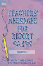 Teachers' Messages for Report Cards, Grades K - 8 by Katherine Ruggieri and...