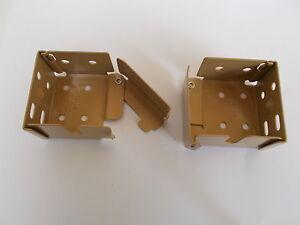 Bois-store-venitien-metal-crochets-paire-pour-s-039-adapter-41mm-x-37mm-haut-rail-tan-petit
