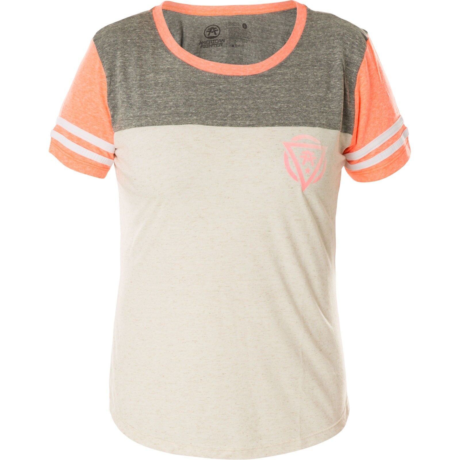 American Fighter Affliction Donna Donna Donna T-shirt New Messico Beige Grigio cb27f1