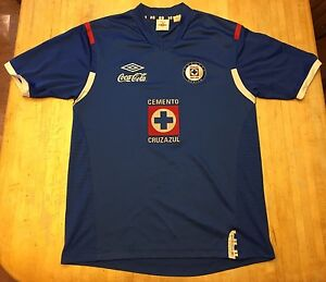 5158b022190 Mens Umbro Cemento Cruz Azul Coca Cola Tailored Soccer Jersey Large ...