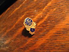 General Electric Lapel Pin Vintage 10K Gold GE 5 Yr Employee Worker Service