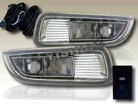 03-04 Toyota Corolla Oe Style Fog Lights + Switch + Wire Pair Clear