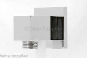 SQUARE-CHROME-WALL-SHOWER-HOSE-OUTLET-ELBOW-BRASS-1-2-034-CP