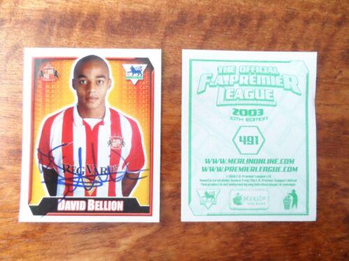 Premier League 2003-Sunderland jugador Pegatinas Merlin F.A