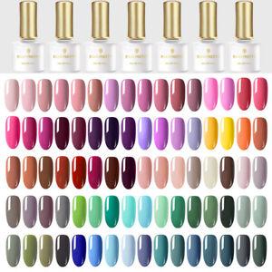 BORN-PRETTY-Black-White-UV-Gel-Nail-Polish-Pink-Gray-Base-Top-Coat-Salon