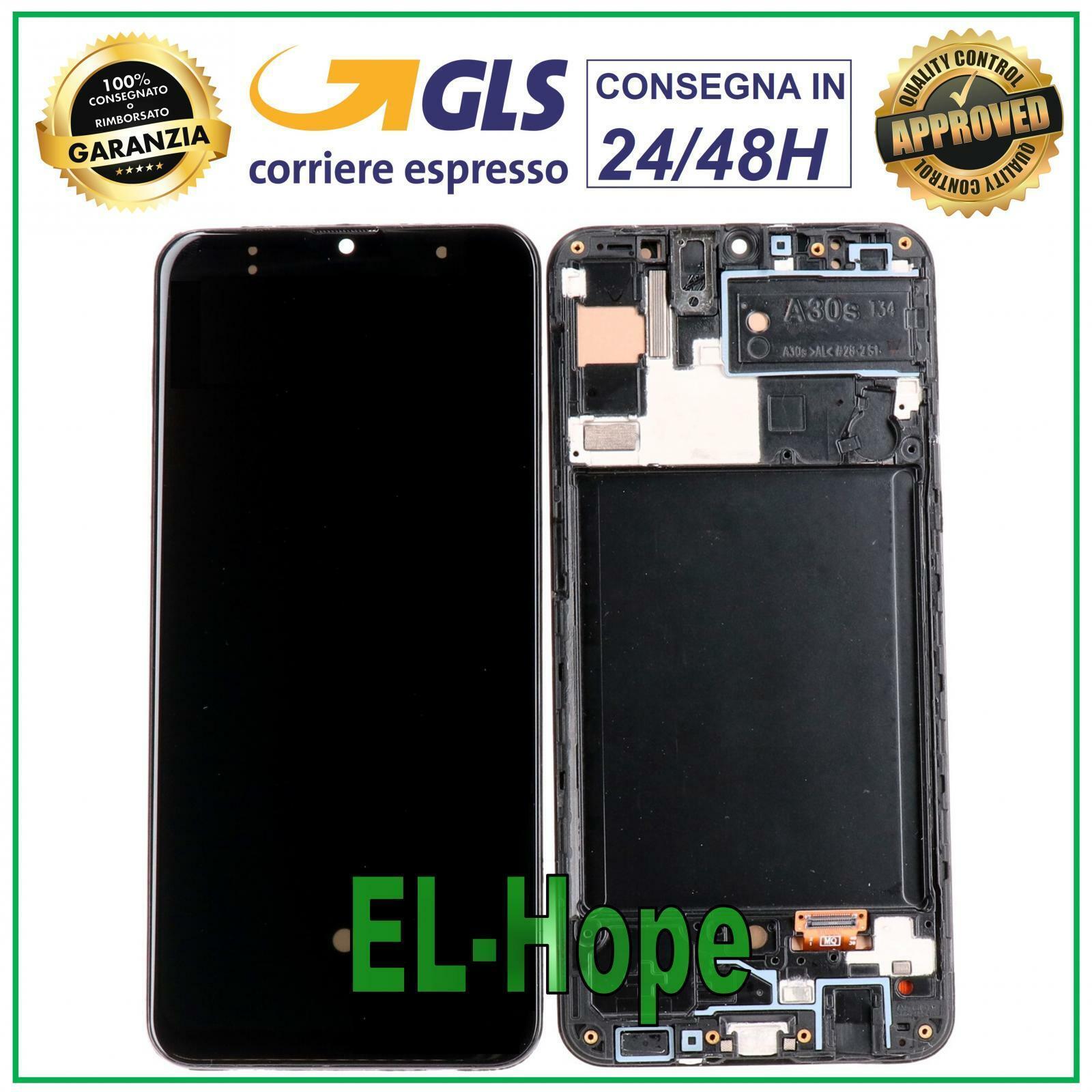 Samsung Galaxy: DISPLAY LCD PARI ORIGINALE SAMSUNG GALAXY A30S SM A307F TOUCH SCHERMO VETRO NERO
